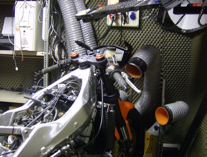 Moto pronta per il test